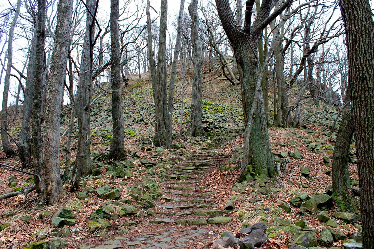 wycieczka na górę Ostrzyca