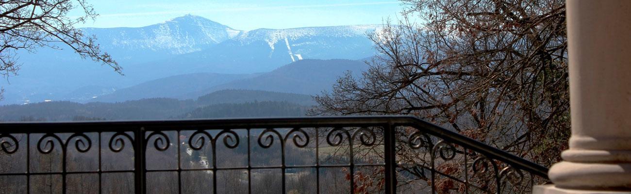 Śnieżka widziana z pałacu Paulinum