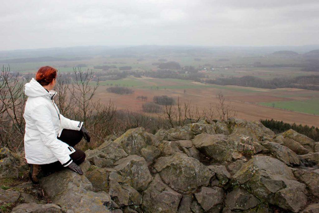panorama Karkonoszy z Ostrzycy