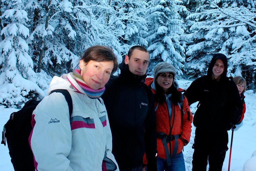 wycieczka do schroniska pod Łabskim Szczytem, zimą